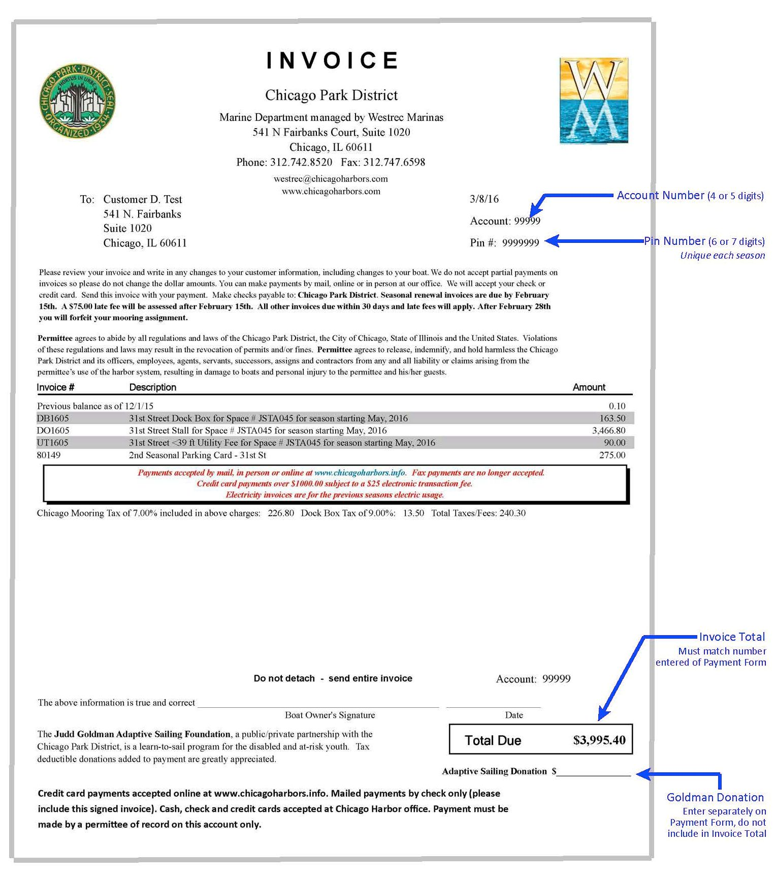 Sample Invoice 2016  Payment Slips